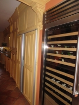 "<h5>150 bottle Viking wine cooler next to 48"" Subzero with panels</h5>"