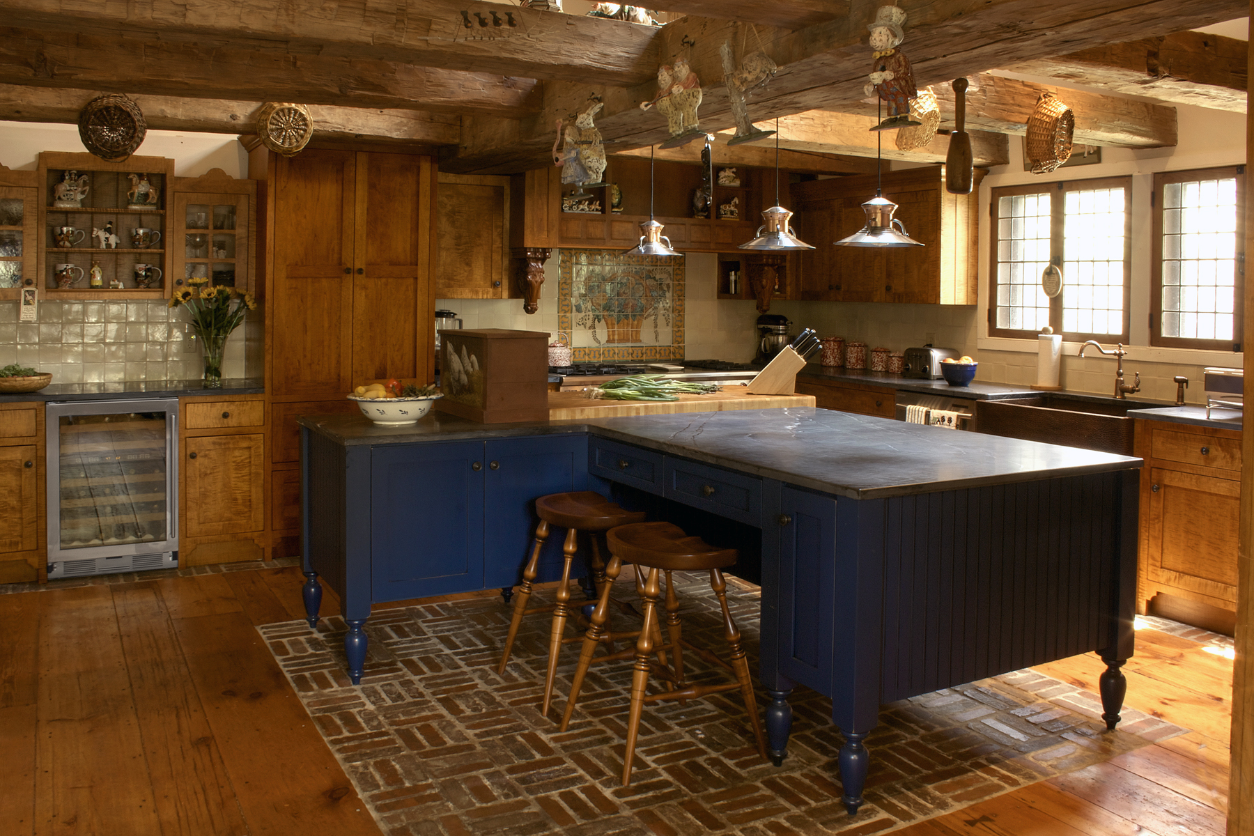 Traditional Horse Farm Kitchen