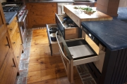 <h5>slate counter tops with end grain maple butcherblock</h5>